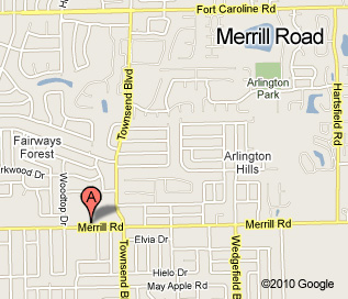 Merrill Road location map, located at corner of Merrill and Townsend, in the Publix shopping center