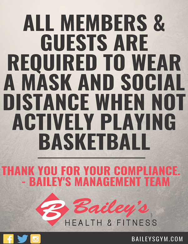 Please remember to practice social distancing and wear face mask on Basketball Court when not actively playing.