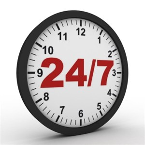 24/7 Access Photo Clock