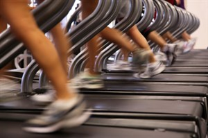 Row of Treadmills