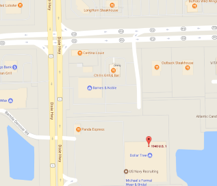 Photo of St Augustine location map, located at the corner of U.S. 1 and State Road 312
