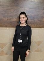 Cashier Sarah Hoffer